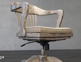 صندلی گردان چوبی