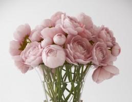 گلدان کریستال+ گل رز
