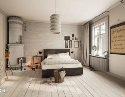 نمای داخلی اتاق خواب اسکاندیناوی