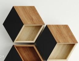 باکس چوبی شش ضلعی