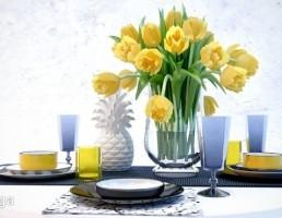 میز غذا + وسایل تزیینی