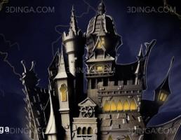 قلعه خون آشام برای چاپ سه بعدی