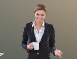 کاراکتر زن چای خوردن
