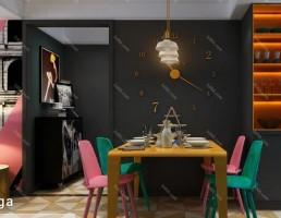 اتاق غذا خوری پست مدرن