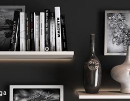 باکس چوبی + کتاب + وسایل تزیینی