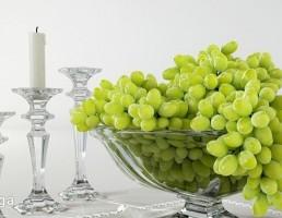 ظرف انگور + شمع + شمعدان