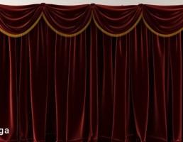 پرده کلاسیک قرمز Opera