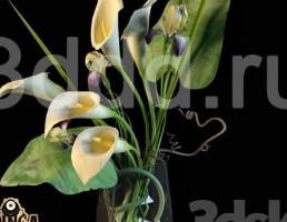 گل و گلدان تزیینی