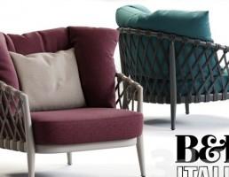 صندلی راحتی ERICA از B&B Italia