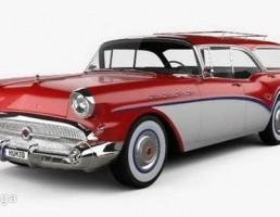 ماشین بیوک مدل  CABALLERO WAGON سال 1957