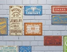 پلاک های فلزی دیواری