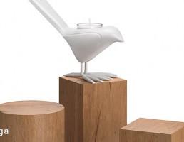 جعبه چوبی + شمعدان فانتزی