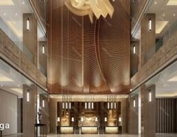لابی هتل سبک مدرن