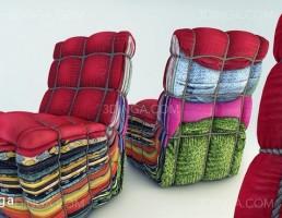 صندلی پارچه ایی مدرن