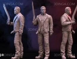 کاراکتر مرد مسلح برای چاپ سه بعدی