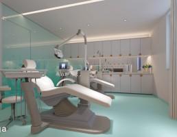 صحنه داخلی اتاق دندان پزشکی