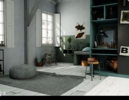 نمای داخلی اتاق اسکاندیناوی