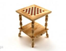 میز چوبی شطرنج