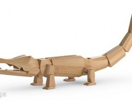 تمساح چوبی