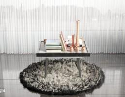 قالیچه پوست حیوانات + میز