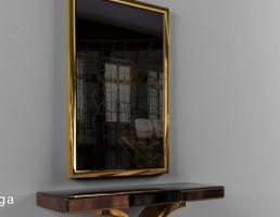آینه + کنسول مدرن