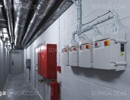 صحنه داخلی مکان صنعتی