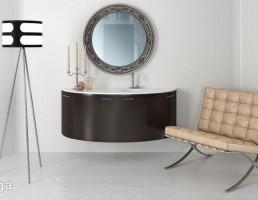 آینه + روشویی + آباژور + صندلی راحتی