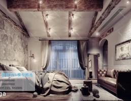 اتاق خواب سبک صنعتی