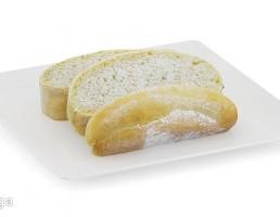 بشقاب + برش نان