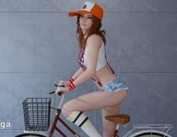 کاراکتر  زن دوچرخه سوار