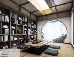 اتاق پذیرایی سبک ژاپنی
