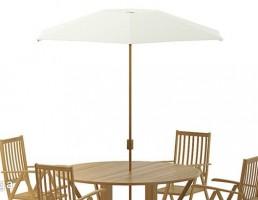 ست میز و صندلی سایبان دار