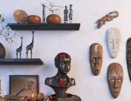 مجسمه آدمک آفریقایی