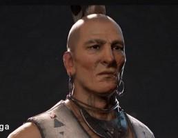 کاراکتر مرد بومی آمریکایی- Native American NPC