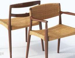 صندلی چوبی فضای باز