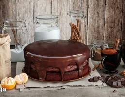 کیک شکلاتی + شراب
