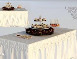 میز غذا کلاسیک + ظرف شیرینی