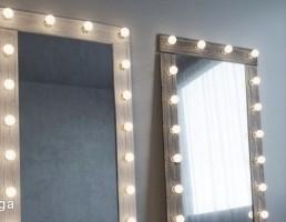 آینه چراغ دار مدرن