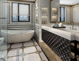 صحنه ی داخلی حمام مدرن