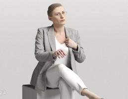 کاراکتر زن نشسته در حال صحبت