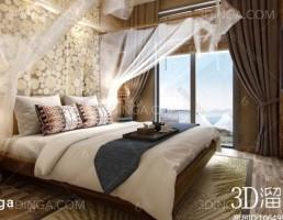 فضای داخلی اتاق خواب هتل