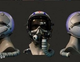 کلاه ایمنی + عینک خلبان