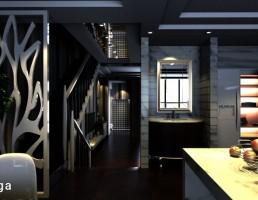 صحنه داخلی آشپزخانه و راهرو