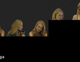 کاراکتر  زن در حالت های مختلف