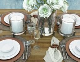 میز غذا + ظروف غذا