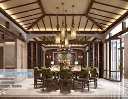 اتاق پذیرایی سبک آسیایی