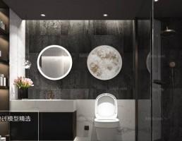 صحنه داخلی حمام و توالت مدرن 7