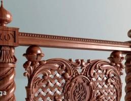 حفاظ پله چوبی