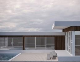 طراحی خارجی خانه استخر دار