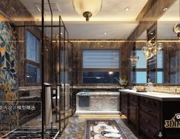 صحنه حمام سبک آسیای شرقی 1